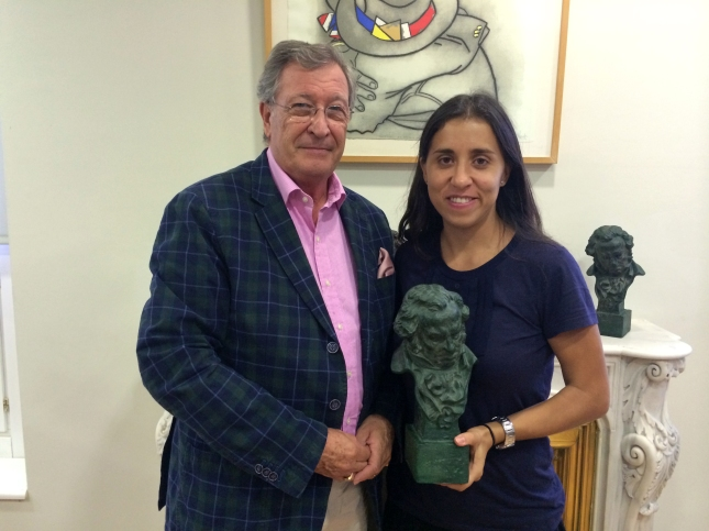 Porfirio Enríquez y Patricia Roda, miembro de la Junta Directiva de la ACA.