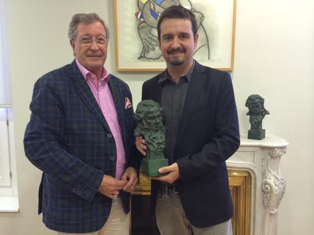 En la foto Porfirio Enríquez, director general de la Academia de Cine de España, junto con José Ángel Delgado, presidente de la ACA