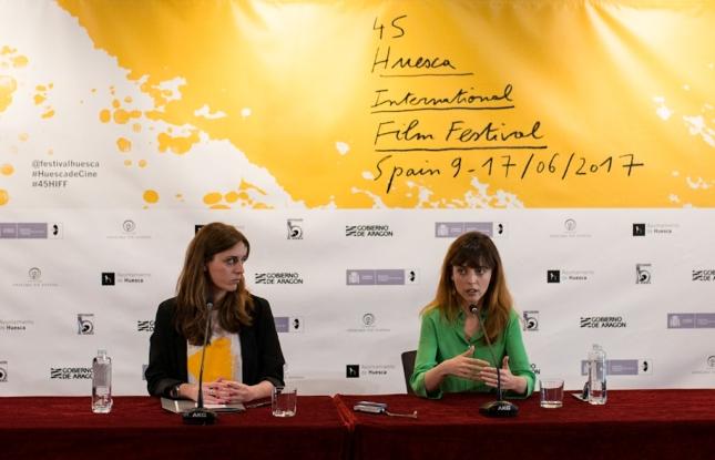 Azucena Garanto y Leticia Dolera en rueda de prensa (Jorge Dueso)